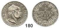 Deutsche Münzen und Medaillen,Hohenzollern preußisch Friedrich Wilhelm IV. 1849 - 1861 1/2 Gulden 1852 A.  AKS 21.  Jg. 22.  Old. 351.