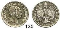 Deutsche Münzen und Medaillen,Preußen, Königreich Wilhelm I. 1861 - 1888 1/6 Taler 1862 A.  AKS 100.  Jg. 91.