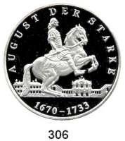 Deutsche Münzen und Medaillen,Sachsen Friedrich August I. 1694 - 1733 Feinsilbermedaille 1994.  Reiterdenkmal August des Starken