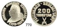 M E D A I L L E N,Personen Kändler, Johann Joachim Weißmetallmedaille 1975.  Zum 200. Todestag - Fischbach - Seeligstadt.  31 mm.  13,9 g.