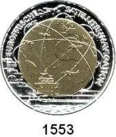 AUSLÄNDISCHE MÜNZEN,E U R O  -  P R Ä G U N G E N Österreich 25 Euro 2006 (Bi-Metall Silber/Niob).  Satellitennavigation.  Schön 326.  KM 3135.  Im Originaletui mit Zertifikat.