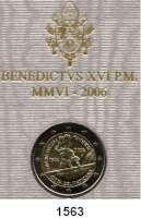 AUSLÄNDISCHE MÜNZEN,E U R O  -  P R Ä G U N G E N Vatikan 2 EURO 2006.  500 Jahre