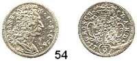 Deutsche Münzen und Medaillen,Bayern Maximilian II. Emanuel 1679 - 1726 Groschen (3 Kreuzer) 1724.  1,41 g.  Hahn 190 a.