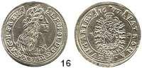 Römisch Deutsches Reich,Haus Habsburg Leopold I. 1657 - 1705 XV Kreuzer 1677, Kremnitz.  6,02 g.  Herinek 1041.