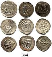 Deutsche Münzen und Medaillen,Schwäbisch Hall  Händleinheller um 1400.  LOT 9 Stück.