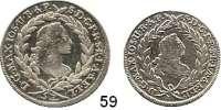 Deutsche Münzen und Medaillen,Bayern Maximilian III. Josef 1745 - 1777 10 Kreuzer 1769 und 20 Kreuzer 1764.  Hahn 295 und 299.  Schön 110 und 111.  LOT 2 Stück.