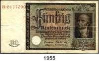 P A P I E R G E L D,R E N T E N B A N K  50 Rentenmark 6.7.1934.  Stein.  Serie B.  Ros. DEU-221.