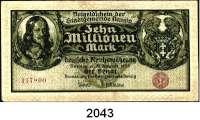 P A P I E R G E L D,D A N Z I G  10 Millionen Mark 31.8.1923.  Ros. DAN-28 a.