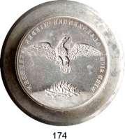 Deutsche Münzen und Medaillen,Hamburg, Stadt Freie und Hansestadt seit 1815 Prägestempel aus Stahl (Matrize) der Rückseite der Medaille von 1842 auf den großen Brand.  44,3/58,8 mm Ø  49 mm hoch.  956 g.