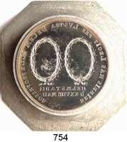 M E D A I L L E N,Personen Beireis, Gottfried Christoph, Prof. der Physik und Medizin in Helmstedt (+1809) Prägestempel (achteckig) aus Stahl (Matrize) der Rückseite der Medaille von 1809 Auf seine 50jährige Lehrtätigkeit.  Zwei Lorbeerkränze über zwei Textzeilen.  44,3/60 mm Ø  54 mm hoch.  1.292 g.