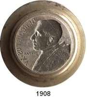 AUSLÄNDISCHE MÜNZEN,Vatikan Benedikt XV. 1914 - 1922 Prägestempel aus Stahl (Matrize) der Vorderseite einer Medaille auf Papst Benedikt XV..  Brustbild.  38/56,5 mm Ø  62 mm hoch.  1.113 g.