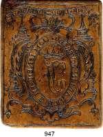 M E D A I L L E N,Varia  Einseitige Bronzeplakette o.J.