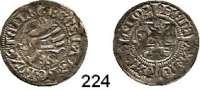 Deutsche Münzen und Medaillen,Pommern Bogislaw X. 1474 - 1523 Schilling 1492, Damm.  1,14 g.  Olding 4.