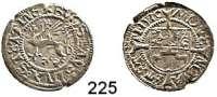Deutsche Münzen und Medaillen,Pommern Bogislaw X. 1474 - 1523 Schilling 1510 (aus150?), Stettin.  1,30 g.  Olding 11 b.  Dannenberg 398.