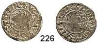 Deutsche Münzen und Medaillen,Pommern Bogislaw X. 1474 - 1523 Schilling 1522, Stettin.  1,35 g.  Olding 11 b.  Dannenberg 410.