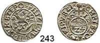 Deutsche Münzen und Medaillen,Pommern - Stettin Philipp II. 1606 - 1618 1/24 Taler 1612, Stettin.  1,51 g.  Olding 55.  Hildisch 60.