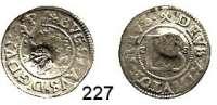 Deutsche Münzen und Medaillen,Pommern Bogislaw XIV. 1620 - 1637 Doppelschilling 1628, Stettin.  1,32 g.  Mit Gegenstempel von Stralsund.  Olding 234 b.  Hildisch 366.