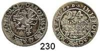 Deutsche Münzen und Medaillen,Pommern Karl XI. von Schweden 1660 - 1697 1/24 Taler 1672 DS.  2,02 g.  AAJ (S.B.) 169 c.