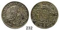 Deutsche Münzen und Medaillen,Pommern Karl XI. von Schweden 1660 - 1697 1/3 Taler 1675 D.S.  9,83 g.  AAJ (S.B.) 131.