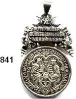 M E D A I L L E N,Schützen Nordhausen Silbernes (800) Spruchband mit Öse