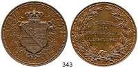 Deutsche Münzen und Medaillen,Sachsen - Coburg und - Gotha Ernst II. 1844 - 1893 Bronzemedaille o.J.  STAATSPREIS.  Anerkennung für hervorragende Leistungen.  45,4 mm.  41,32 g.