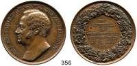 Deutsche Münzen und Medaillen,Sachsen - Weimar - Eisenach Karl Friedrich 1828 - 1853 Bronzemedaille 1853 (Bubert / Loos).  25jähriges Regierungsjubiläum.