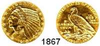 AUSLÄNDISCHE MÜNZEN,U S A  5 Dollars 1910 D.  (7,52g fein).  Schön 139.  KM 129.  Fb. 151.  GOLD