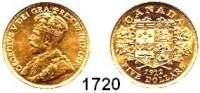AUSLÄNDISCHE MÜNZEN,Kanada Georg V. 1910 - 1936 5 Dollars 1912.  (7,53g fein).  Schön 25.  KM 26.  Fb. 4.  GOLD