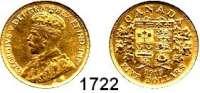 AUSLÄNDISCHE MÜNZEN,Kanada Georg V. 1910 - 1936 5 Dollars 1913.  (7,53g fein).  Schön 25.  KM 26.  Fb. 4.  GOLD