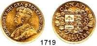 AUSLÄNDISCHE MÜNZEN,Kanada Georg V. 1910 - 1936 10 Dollars 1912.  (15,05g fein).  Schön 26.  KM 27.  Fb. 3.  GOLD