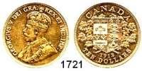 AUSLÄNDISCHE MÜNZEN,Kanada Georg V. 1910 - 1936 10 Dollars 1913.  (15,05g fein).  Schön 26.  KM 27.  Fb. 3.  GOLD