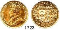AUSLÄNDISCHE MÜNZEN,Kanada Georg V. 1910 - 1936 10 Dollars 1914.  (15,05g fein).  Schön 26.  KM 27.  Fb. 3.  GOLD