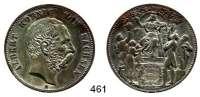 R E I C H S M Ü N Z E N,Sachsen, Königreich Albert 1873 - 1902 5 Mark-Größe 1889.  Jaeger 123 a.  800 Jahrfeier des Hauses Wettin  Kupfer-Abschlag.