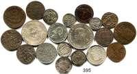 Deutsche Münzen und Medaillen,L O T S     L O T S     L O T S  LOT von 20 Kleinmünzen.  Sachsen und Sächsische Herzogtümer.  Darunter Sachsen-Coburg-Gotha, 1/6 Taler 1845, 1869; Groschen 1870(vz); Sachsen, 1 Pfennig 1765(vz).