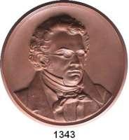 MEDAILLEN AUS PORZELLAN,Staatliche Porzellan-Manufaktur MEISSEN Meissen o.J.(1940) braun.  Franz Schubert - Gedächtnis.  145 mm.  GIPSFORM.