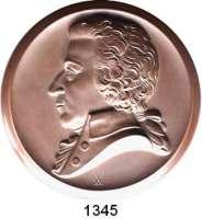 MEDAILLEN AUS PORZELLAN,Staatliche Porzellan-Manufaktur MEISSEN Meissen o.J.(1941) braun.  150. Geburtstag von W. A. Mozart.  Gipsform.  150 mm.
