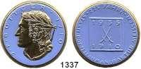 MEDAILLEN AUS PORZELLAN,Staatliche Porzellan-Manufaktur MEISSEN Meissen 1935 blaues Porzellan, Rand und Kopf gold.  225 Jahre Manufaktur II.