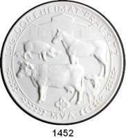 MEDAILLEN AUS PORZELLAN,Staatliche Porzellan-Manufaktur MEISSEN Prausitz 1988 weiß (101 mm).  LPG