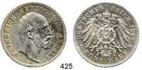 R E I C H S M Ü N Z E N,Anhalt, Herzogtum Friedrich I. 1871 - 1904 5 Mark 1896.  Jaeger 21.  Regierungsjubiläum.