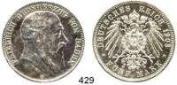 R E I C H S M Ü N Z E N,Baden, Großherzogtum Friedrich I. 1856 - 1907 5 Mark 1903.  Jaeger 33.