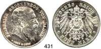 R E I C H S M Ü N Z E N,Baden, Großherzogtum Friedrich I. 1856 - 1907 5 Mark 1907.  Jaeger 37.  Auf seinen Tod.