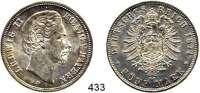 R E I C H S M Ü N Z E N,Bayern, Königreich Ludwig II. 1864 - 1886 5 Mark 1874.  Jaeger 42.