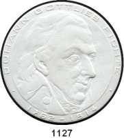 MEDAILLEN AUS PORZELLAN,Staatliche Porzellan-Manufaktur MEISSEN Bischofswerda 1987 weiß (102 mm).  Rat des Kreises - Johann Gottlieb Fichte.
