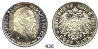 R E I C H S M Ü N Z E N,Bayern, Königreich Prinzregent Luitpold 5 Mark 1911.  Jaeger 50.  90. Geburtstag des Prinzregenten.