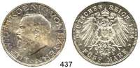R E I C H S M Ü N Z E N,Bayern, Königreich Ludwig III. 1913 - 1918 5 Mark 1914.  Jaeger 53.