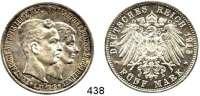 R E I C H S M Ü N Z E N,Braunschweig, Herzogtum Ernst August 1913 - 1918 5 Mark 1915.  Jaeger 58.    Mit Lüneburg.