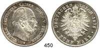 R E I C H S M Ü N Z E N,Preussen, Königreich Wilhelm I. 1861 - 1888 5 Mark 1876 B.  Jaeger 97.