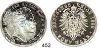 R E I C H S M Ü N Z E N,Preussen, Königreich Wilhelm II. 1888 - 1918 5 Mark 1888.  Jaeger 101.