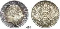 R E I C H S M Ü N Z E N,Sachsen, Königreich Albert 1873 - 1902 5 Mark 1902.  Jaeger 128.  Auf seinenTod.