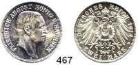 R E I C H S M Ü N Z E N,Sachsen, Königreich Friedrich August III. 1904 - 1918 2 Mark 1914.  Jaeger 134.